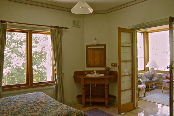 Queen Bedroom with sunroom