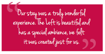 Guest quote - Our stay was truly wonderful